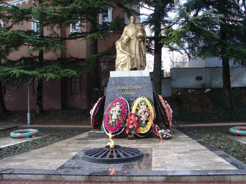 Город воинской славы - Туапсе. Памятник Неизвестному солдату.